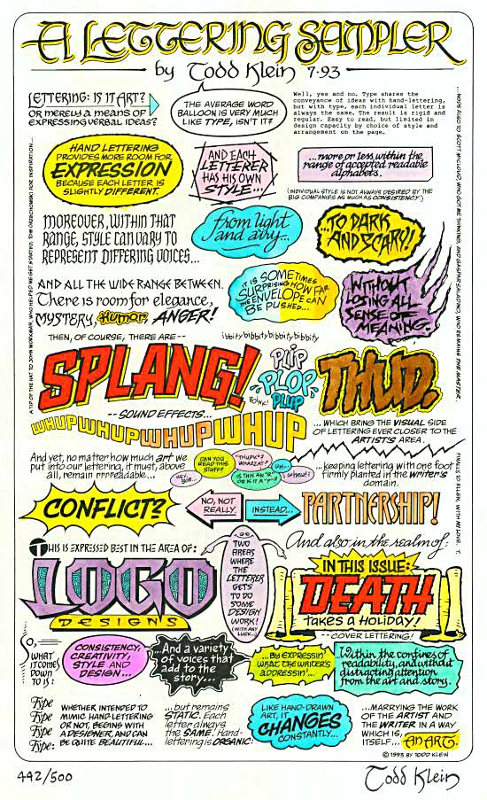 Lettering Sampler Color